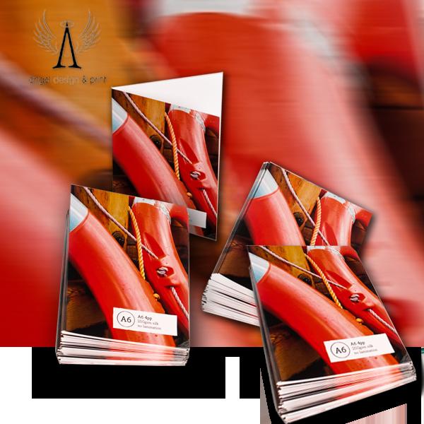 A6 4pp Half Fold Leaflets.