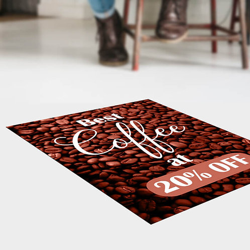 5 Vinyl Floor Stickers 500mm x 1000mm covered with a anti-slip laminate.