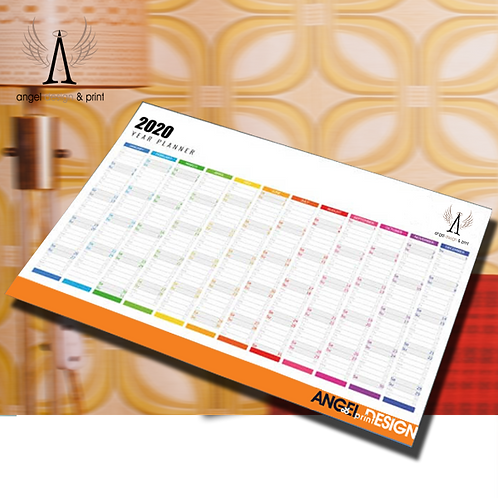 250 Sheets A1 Wall Planners Printed Full Colour ONE SIDE