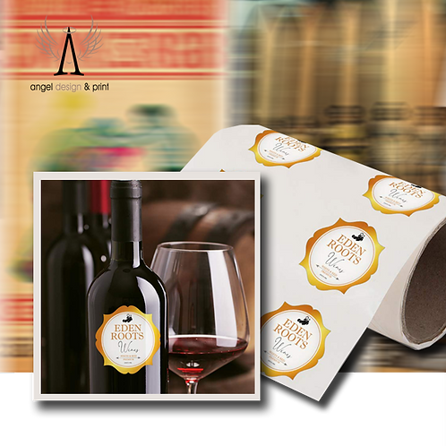 250 Large Wine Bottle Labels, 95mm W x 119mm H  printed full colour