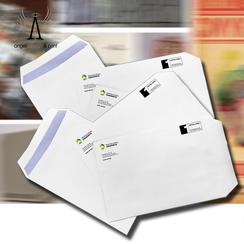 250 Pack of C4 Envelopes printed full colour one side.