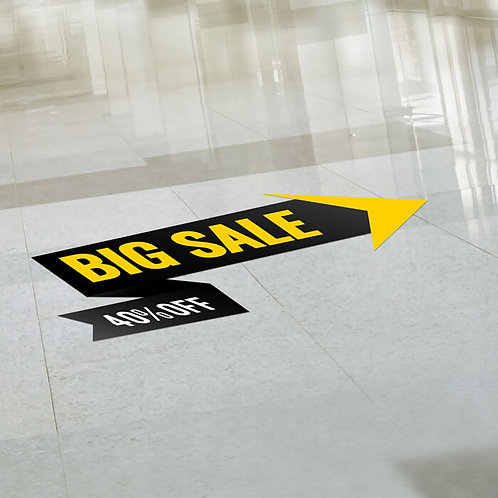 5 Vinyl Floor Stickers 297mm x 420mm covered with a anti-slip laminate.