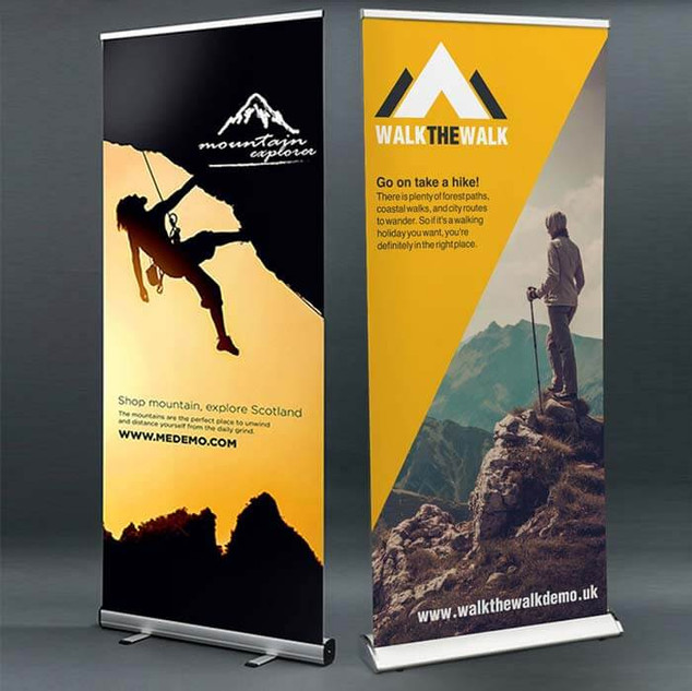Standard & Premium Roller Banners By Ang