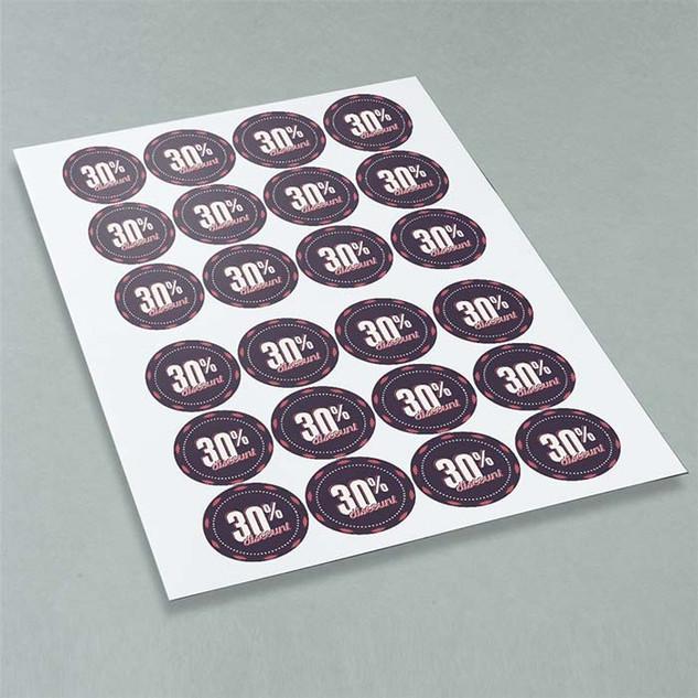 64mm  circular gloss vinyl stickers by A