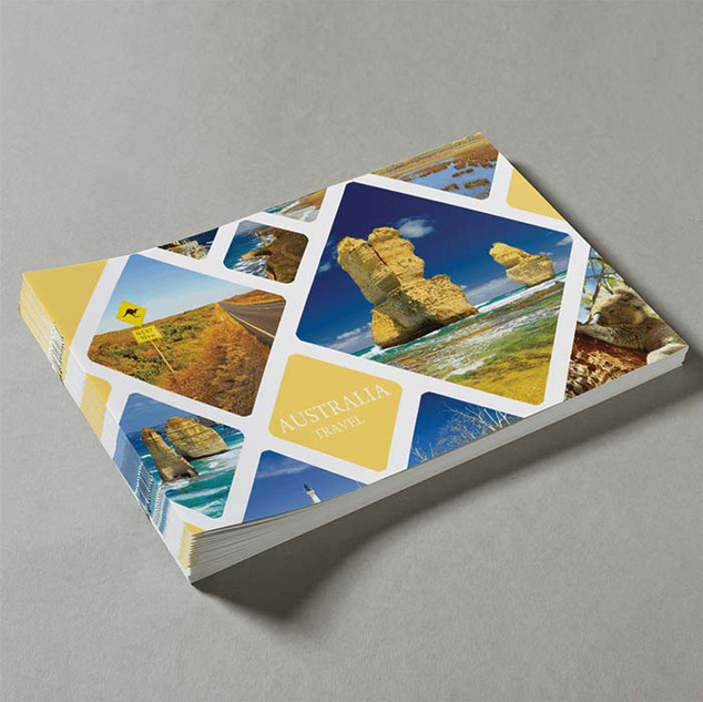 A4 Booklets Landscape Saddle Stitched by