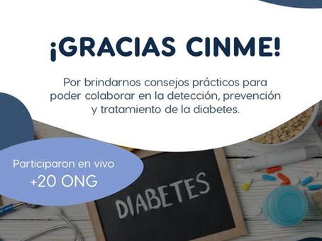 Taller sobre Diabetes dictado por CINME para las ONG Potenciadas