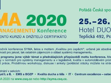 Budeme na SYMA 2020 - sekce Centra excelence přinese sebehodnocení podle Modelu EFQM online