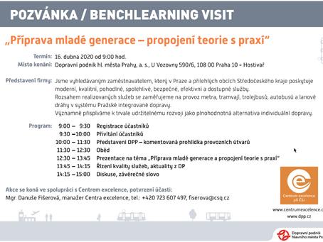 Benchlearning visit v Dopravním podniku hlavního města Prahy: přihlaste se