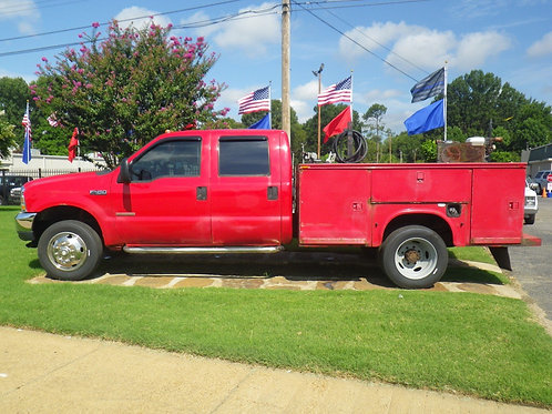2003 Ford F350 Utility Truck Red