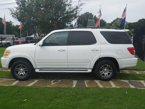 2004 Toyota Sequoia White