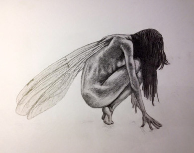 Fairy in pencil