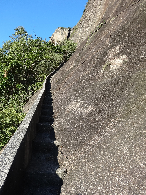 Escadaria de escoamento de água