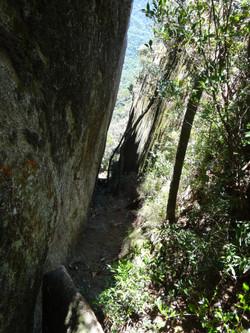 Canaleta de acesso ao cume
