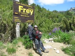 Trilha para o Refúgio Frey