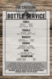 VIP Bottle Service List