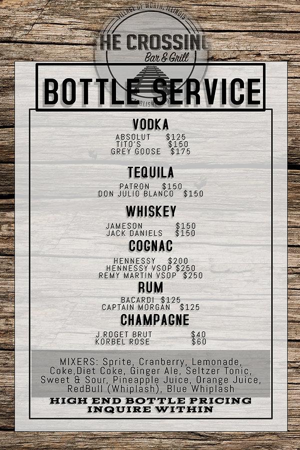 VIP Bottle Service List