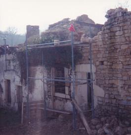 Moulin - Rénovation façade avant - Mars 1992