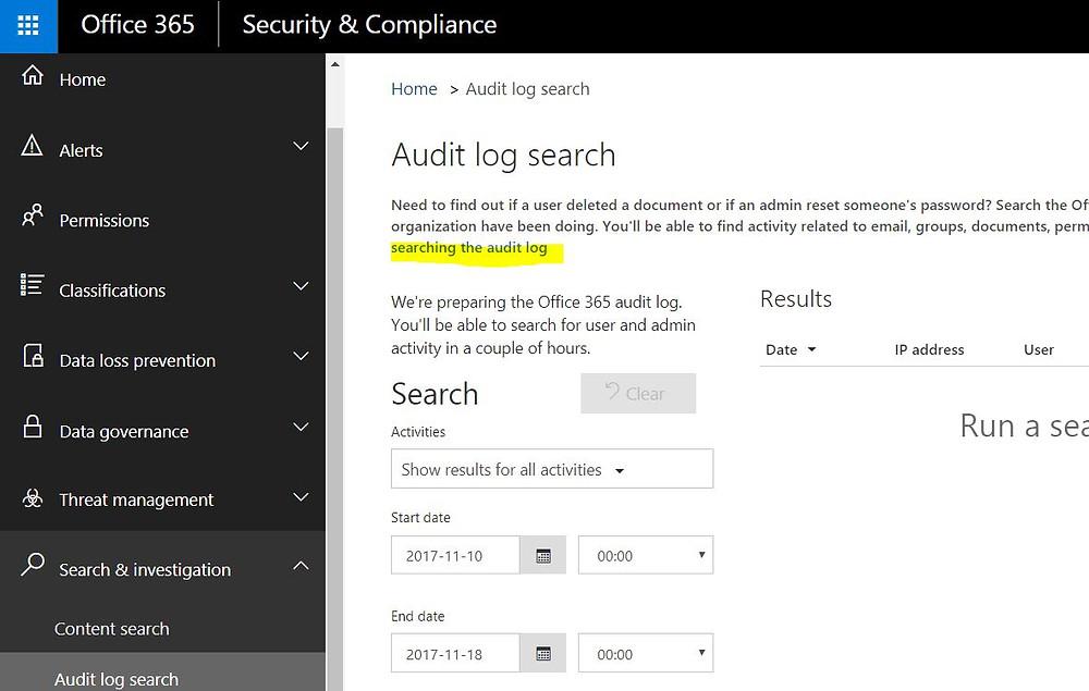 Microsoft Office 365 Audit Logs