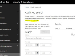 Auditing is off for Office 365
