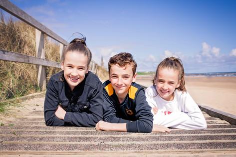 Sunny Siblings on Longsands