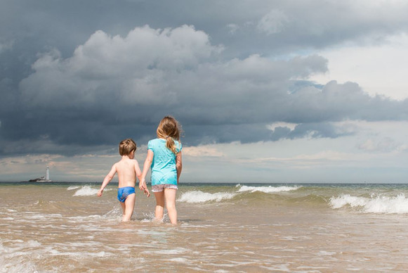 Whitkey Bay Dramatic Skies