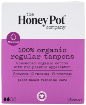 The Honey Pot Company Organic Regular Tampons