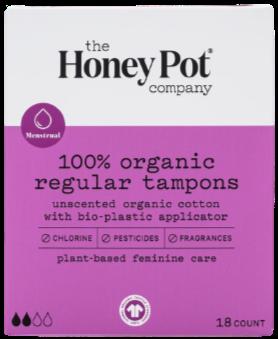 The Honey Pot Company Organic Regular Tampons