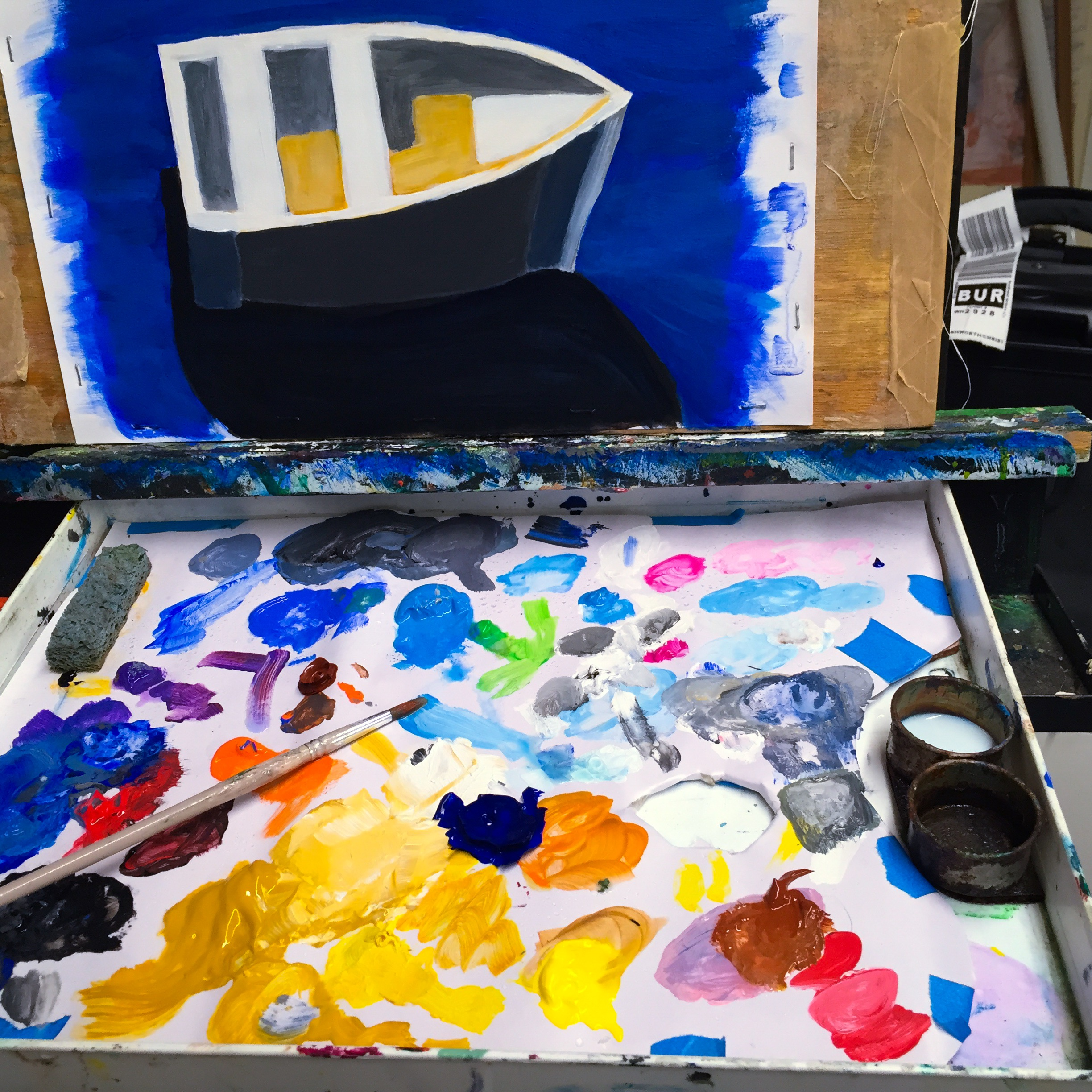 Acryllic Boat in Progress