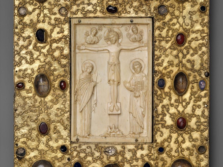 The Book Cover with Byzantine Icon of the Crucifixion: Byzantine Art Analysis