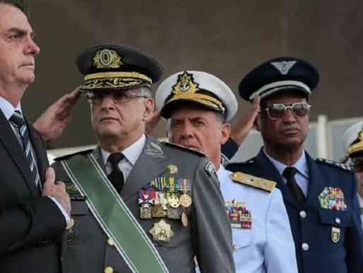Ex-aliados reagem com silêncio à crise militar no Brasil