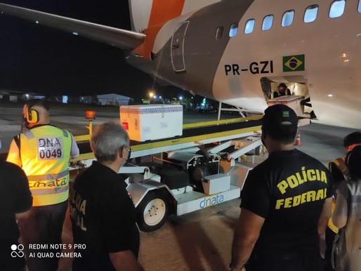 Paraíba recebe carregamento com mais de 110 mil doses de vacinas