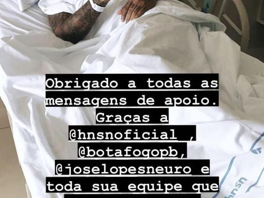 Goleiro Felipe do Botafogo passa por cirurgia na coluna.