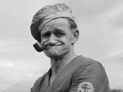 Marinheiro Popeye era um sujeito de verdade e que não saia do bar