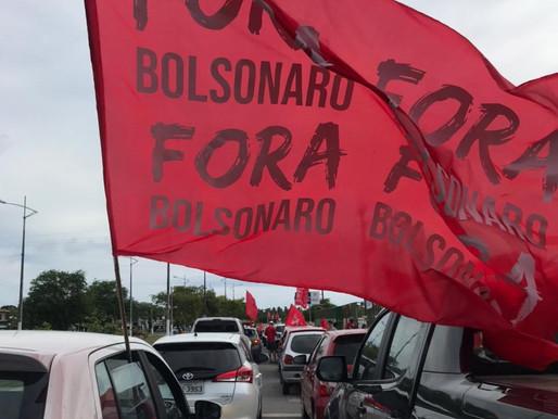 """Carretas marcam o movimento """"Fora Bolsonaro"""" e leva centenas de pessoas às avenidas da capital"""