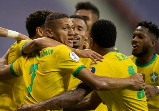 Brasil vence a Venezuela na estreia da Copa América, gols de Marquinhos, Neymar e Gabigol,