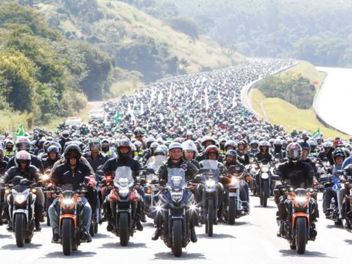 Motociata de Bolsonaro é mais um FAKE divulgado quanto a quantidade de motos...