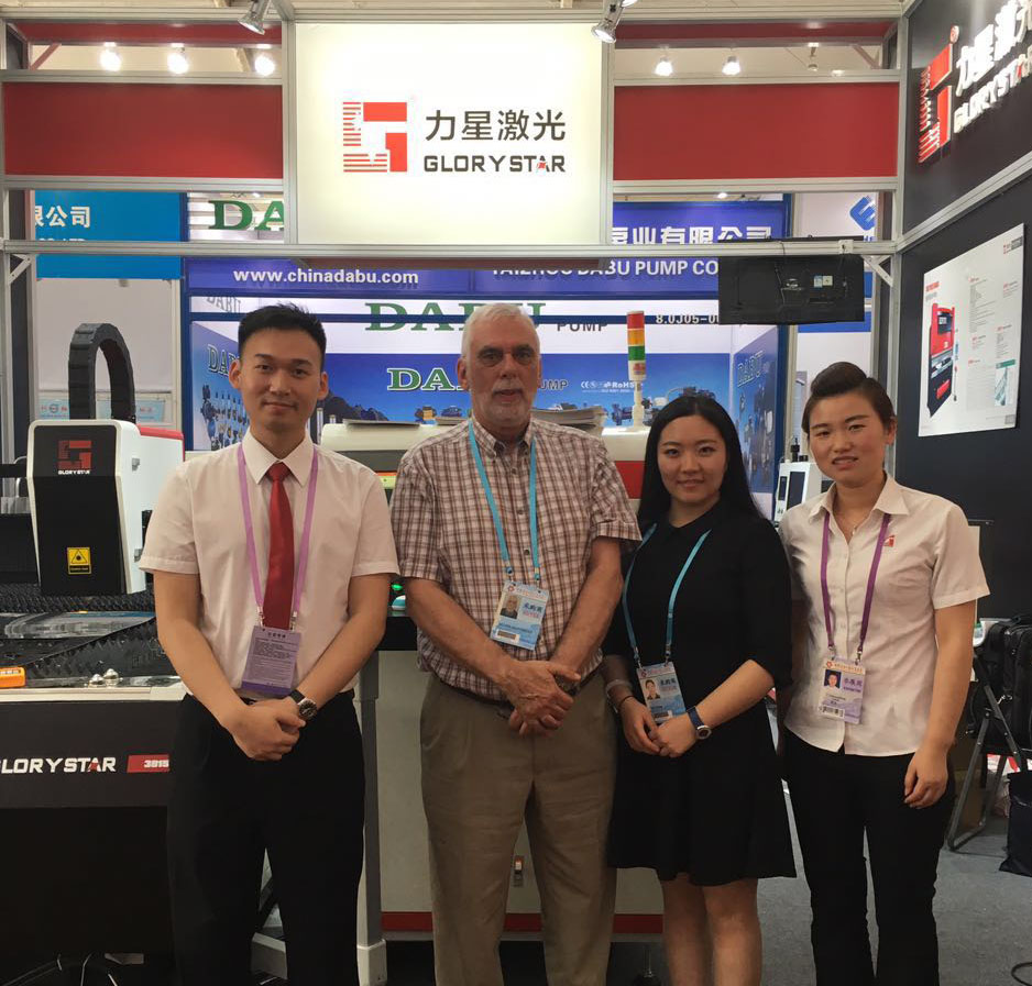 Glenammer Managing Director Allen Matthews and Marketing Manager Shu Yang Visiting Laser Technology Company Venue