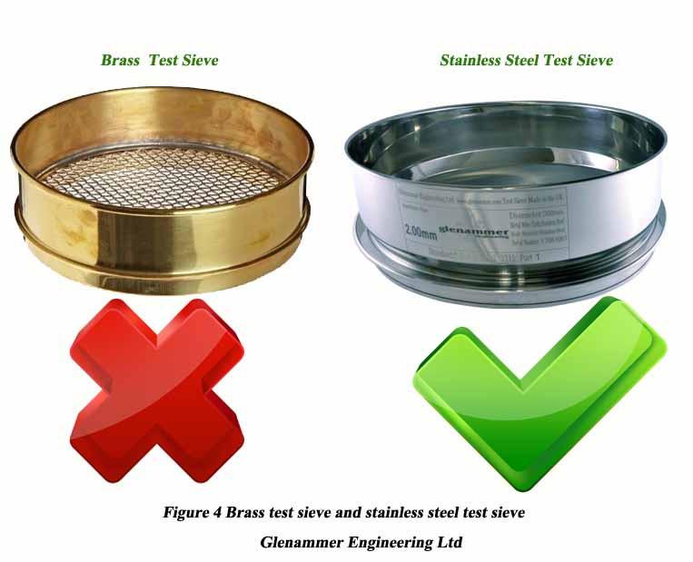 Brass test sieve and stainless steel test sieve
