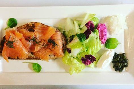 salmon tarteen