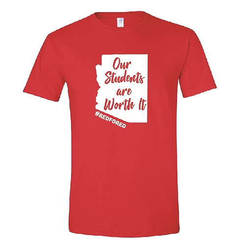WORTH IT Red Tee
