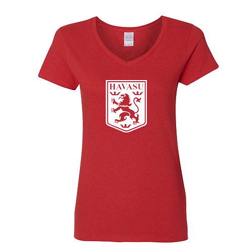 Ladies V-Neck -RED