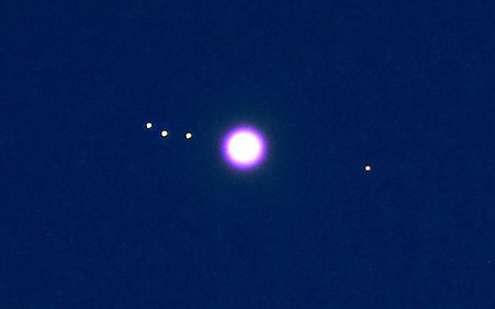 Jupiter w Galilean Moons twilight proces