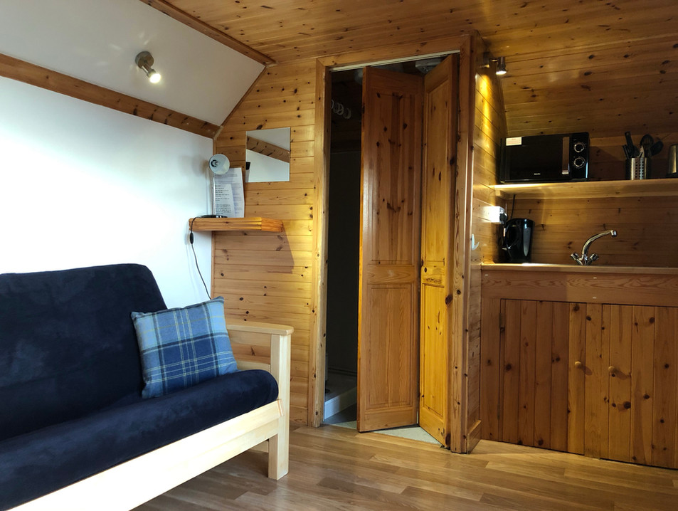 LIVING AREA AND KITCHEN AREA - OYSTER-CATCHER POD