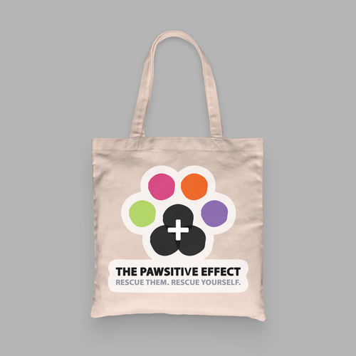 THE PAWSITIVE EFFECT CANVAS TOTE BAG DES