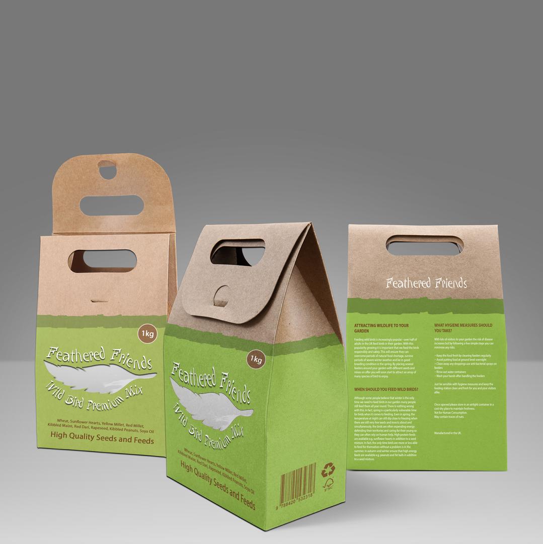 Feathered Friends Bird Food Packaging De