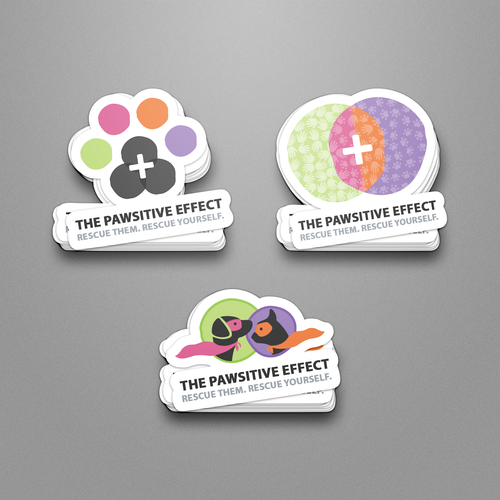 THE PAWSITIVE EFECT STICKER DESIGNS MOCK