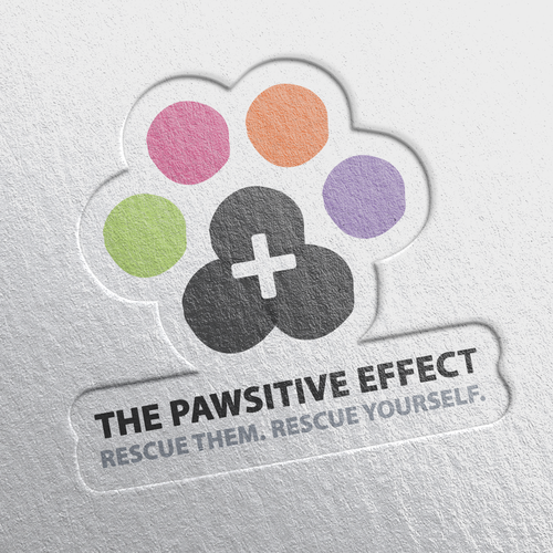 PAPER PRESSED THE PAWSITIVE EFFECT LOGO