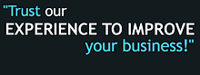 Slogan trust our experience to improve y