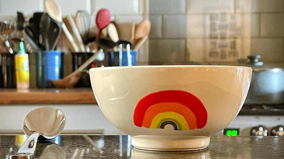 Rainbow Ceramic Bowl
