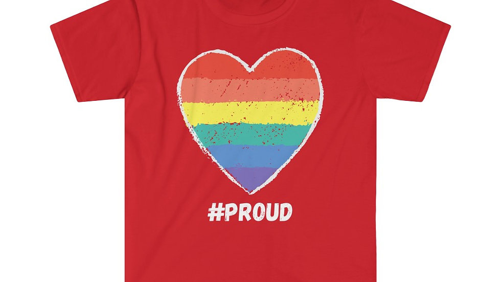 #PROUD HEART (WHITE TEXT) Unisex Softstyle T-Shirt